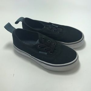 Vans black toddler shoes SZ:12